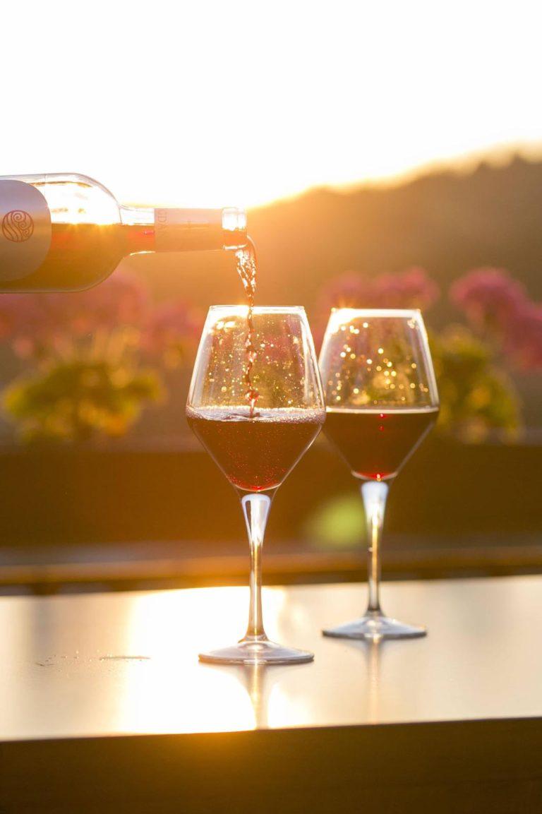 Rotwein Weingläser